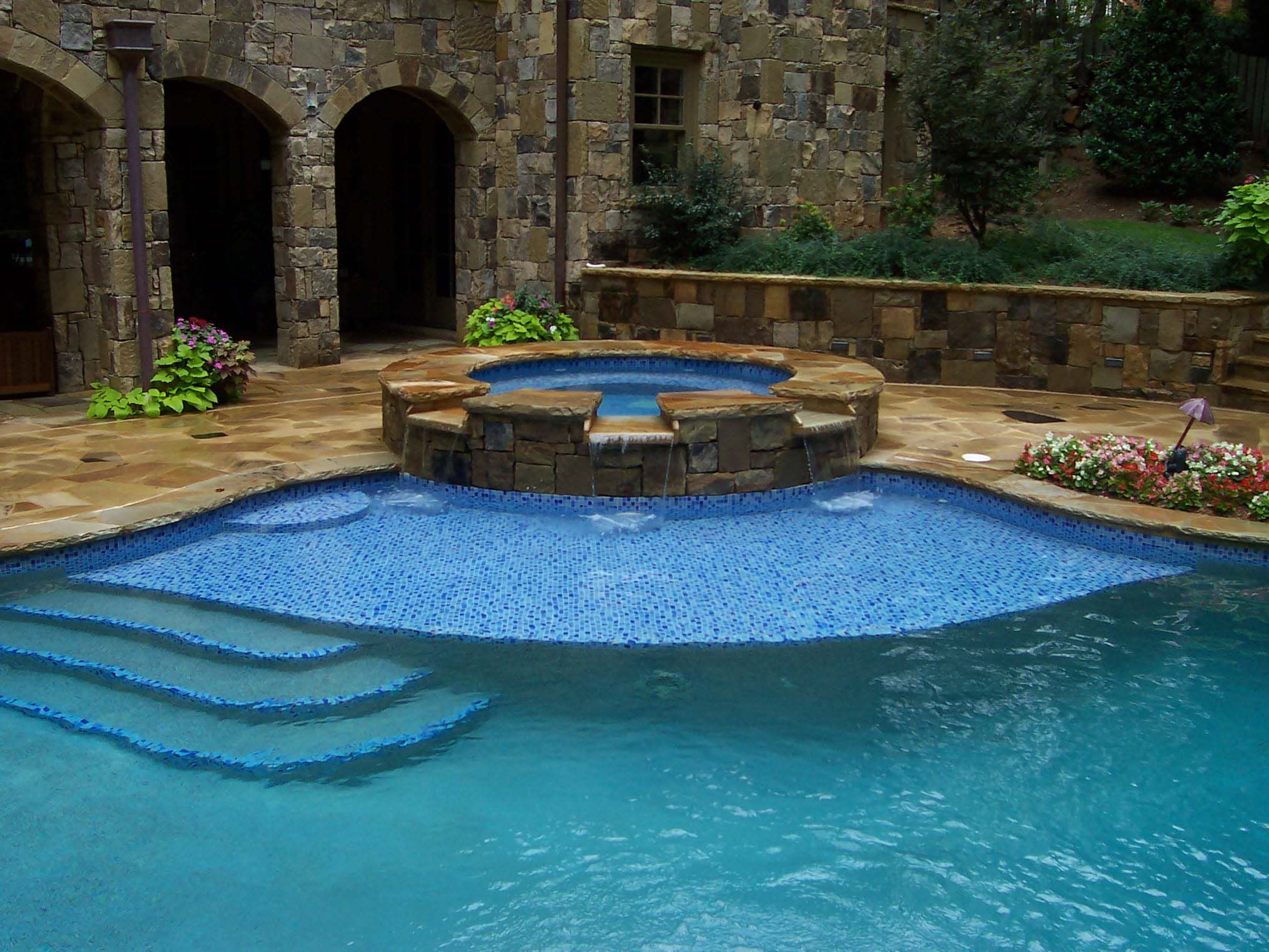 I want a pool on pinterest beach entry pool swimming for Swimming pool builders