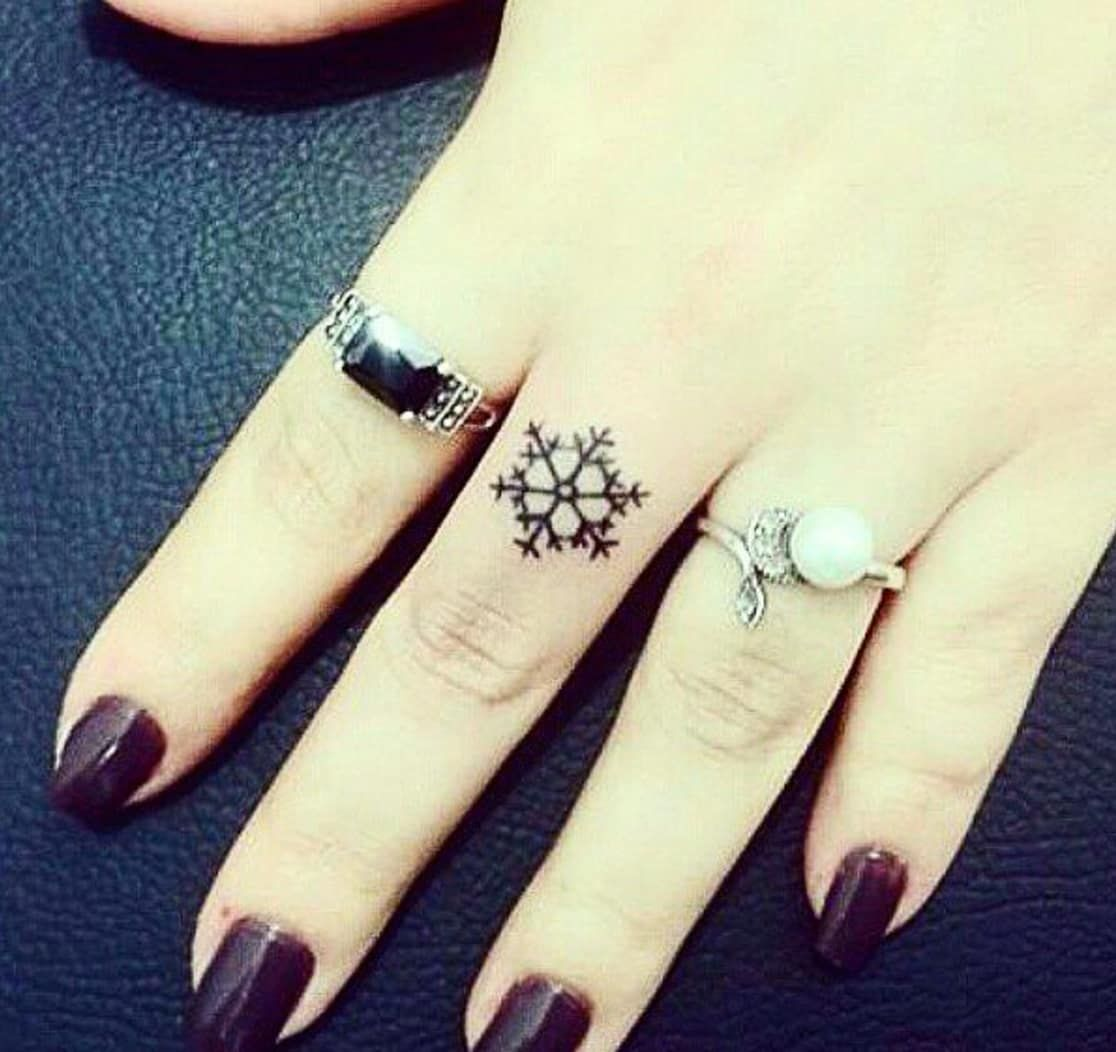 blue ink tattoo fade