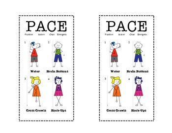 brain gym exercises for preschoolers brain pace bookmark time brain 556
