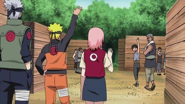 Kakashi Naruto Sakura Inari Tazuna Naruto Naruto Pictures Naruto Kakashi