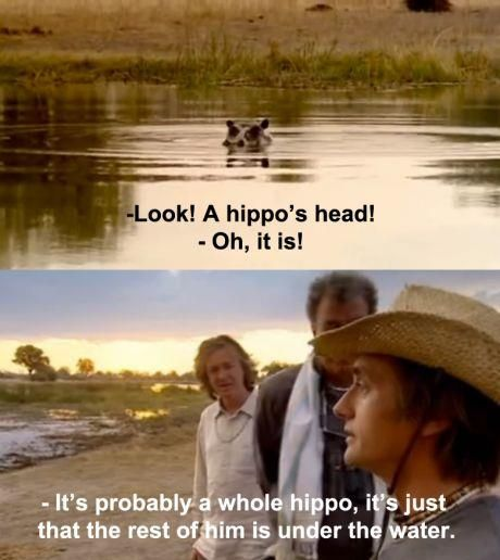 Richard Hammond Is A Genius Hippopotamus Head Make Me Laugh