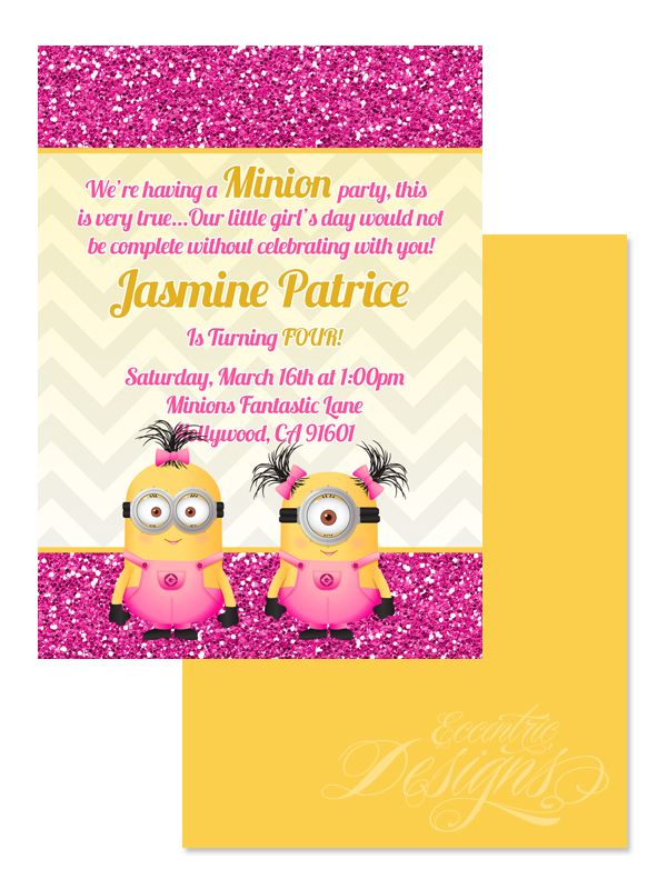 girl minion birthday party