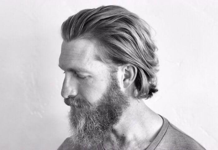 Mittlere Lange Haare Bart Für Die Besten Männer Frisuren Für