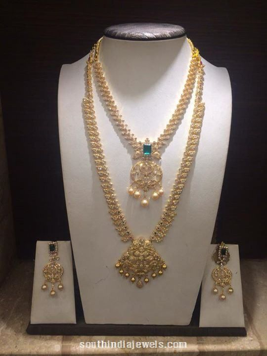 Gold Stone Long Necklace Set Designs jewelery Pinterest Stone