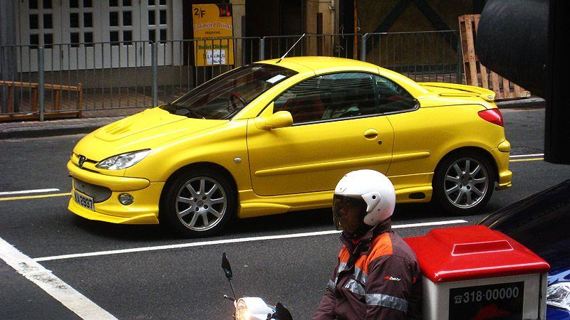 Peu 206cc 001 Peugeot Yellow Car Car