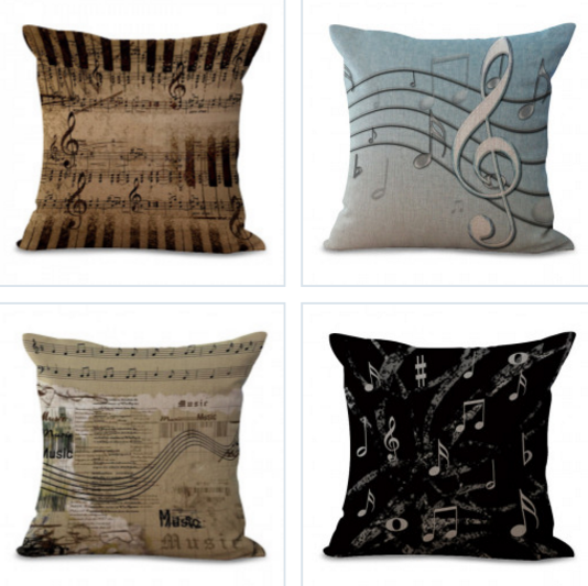 Music Note Pillow Cases Bands Producer Performing Musicians