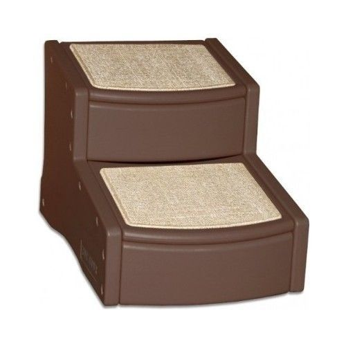 Pet Gear Dog Step 2 Stairs Dog Steps Chocolate Small Dogs Play New Free Shipping #PetGear
