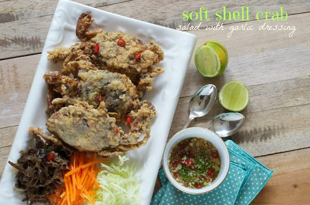Indonesian Medan Food Kepiting Soka Soft Shell Crab With Salad Kepiting Makanan Resep