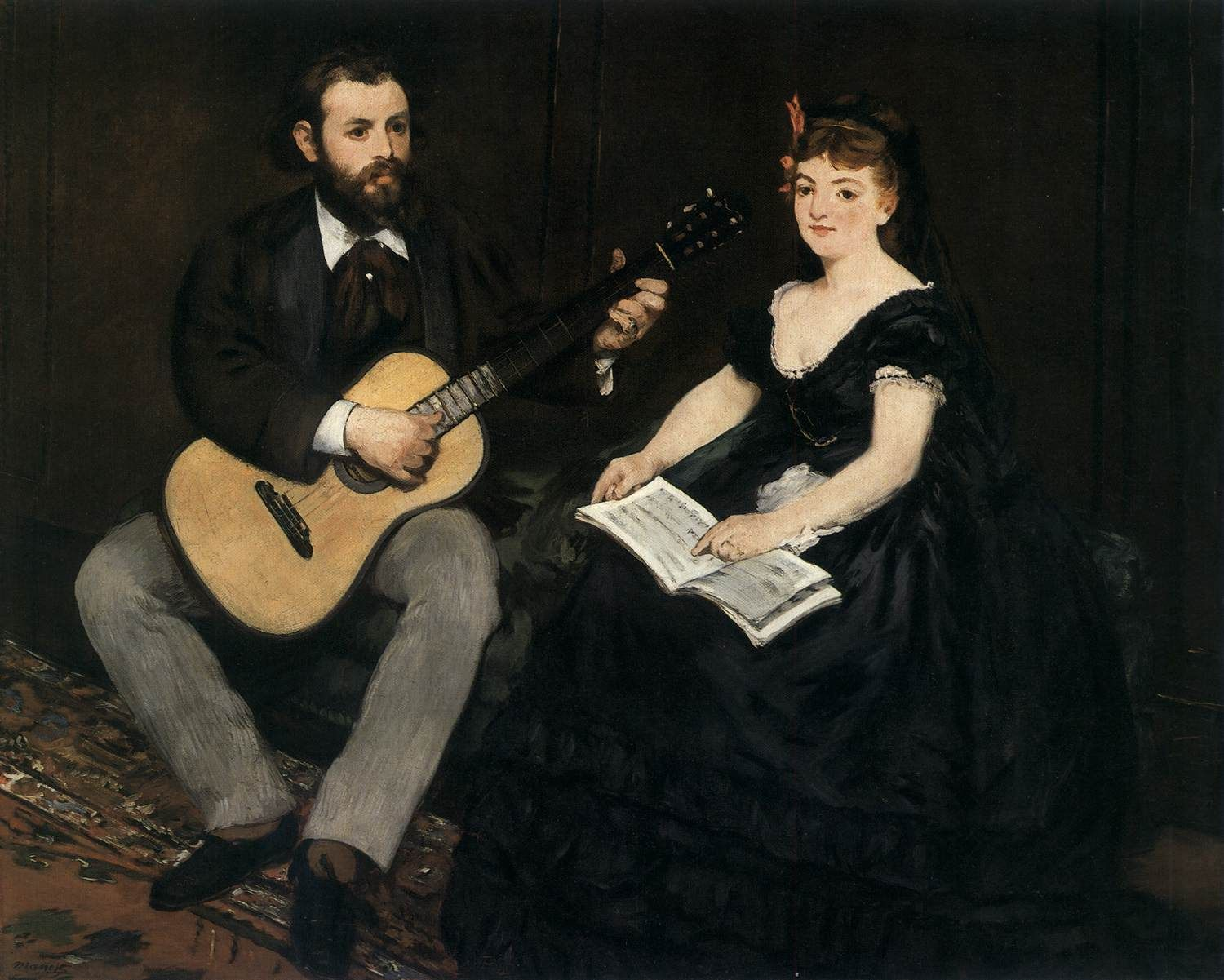 ManetMusic Lesson X Cm Oil On Canvas Museum Of Fine Arts - Music museums in usa