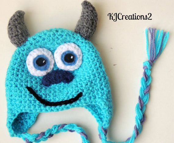FREE SHIPPING-Monster Hat-newborn to adult-made to order | parties ...