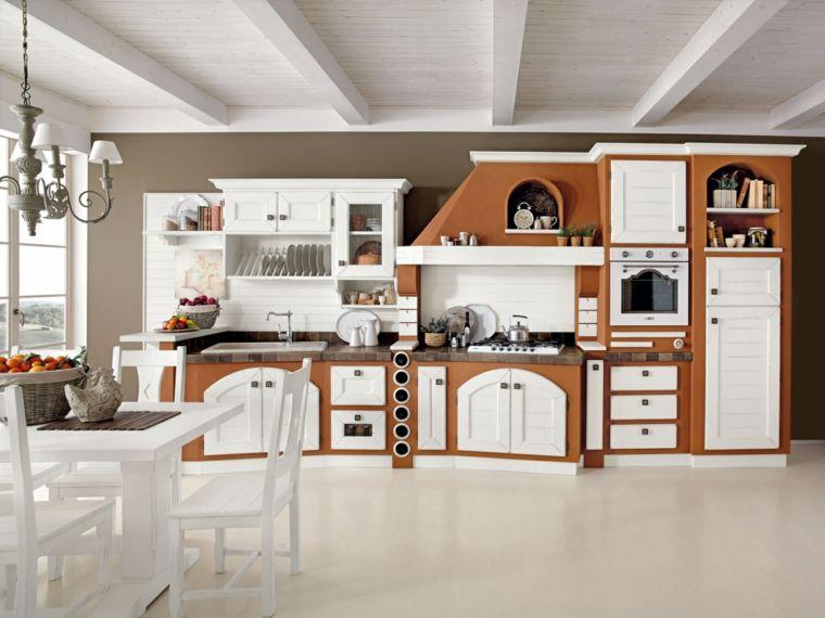 esempio-come-costruire-un-cucina-in-muratura-struttura-marrone ...