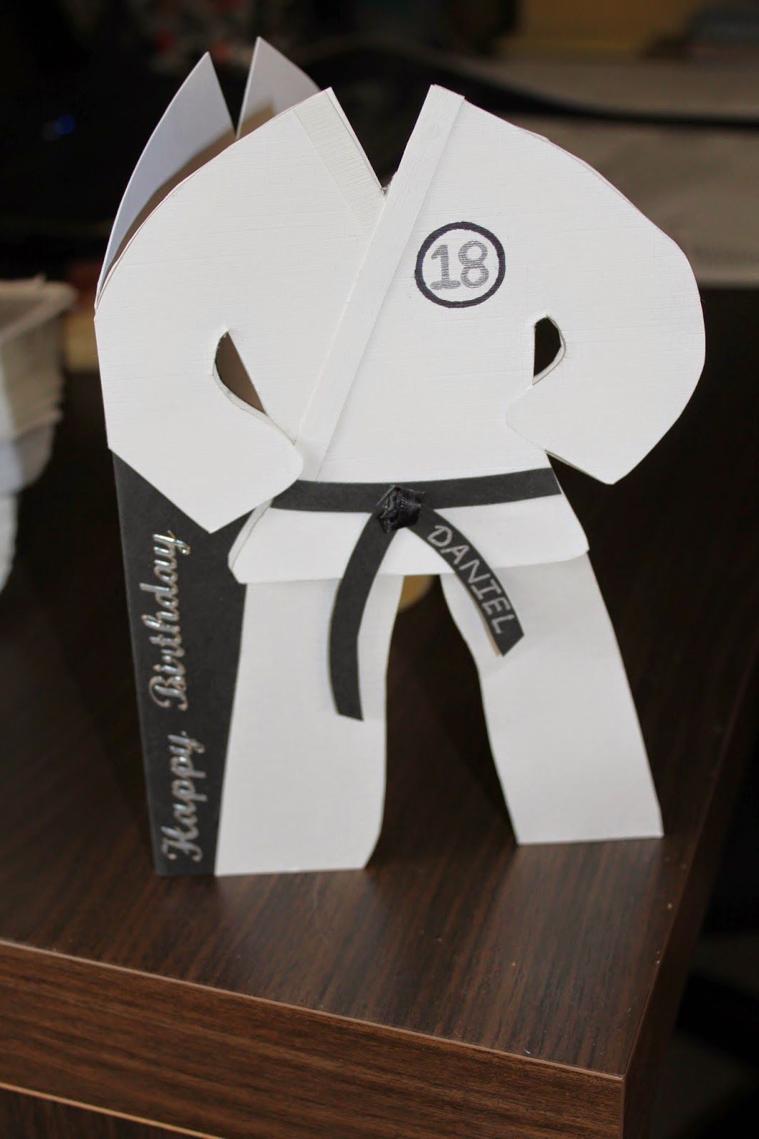 Judo suit card template basteln Pinterest