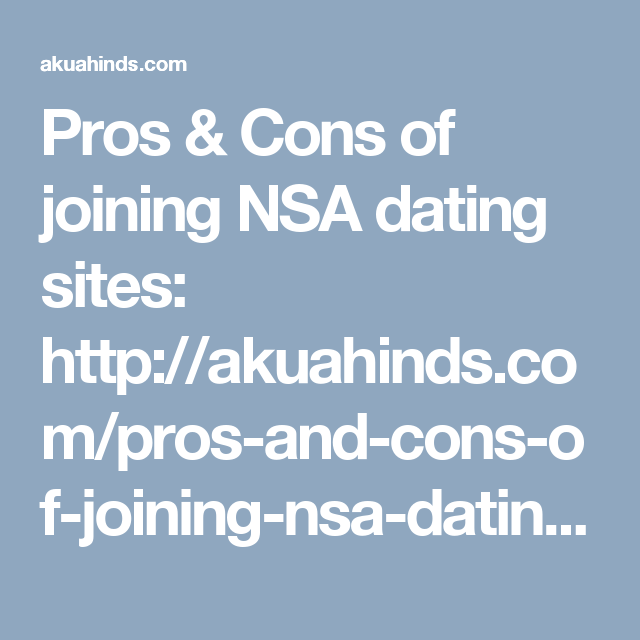 the pros and cons of dating sites