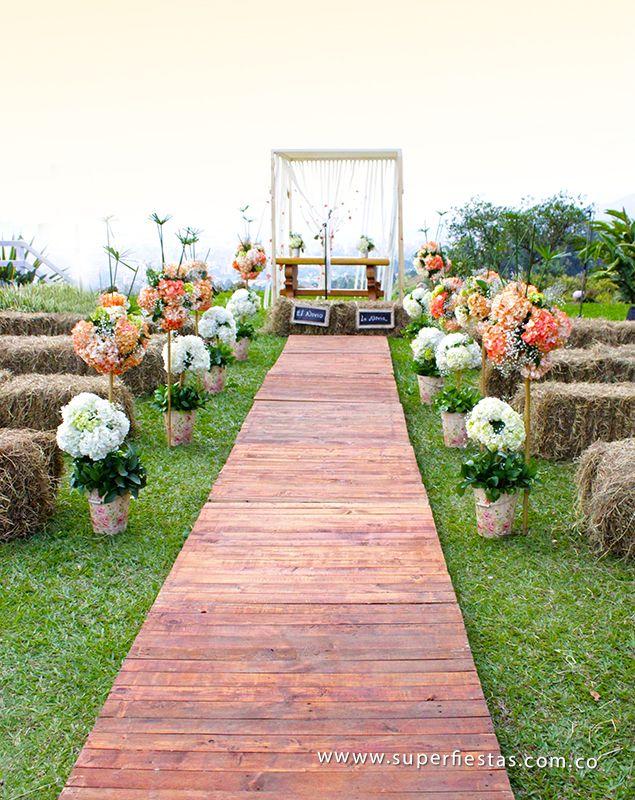 ceremonia al aire libre en la loma del escobero #novias #bodas #amor ...
