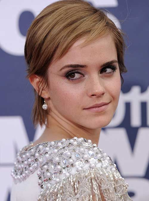 Best Short Haircuts for Straight Fine Hair | Emma watson pixie ...