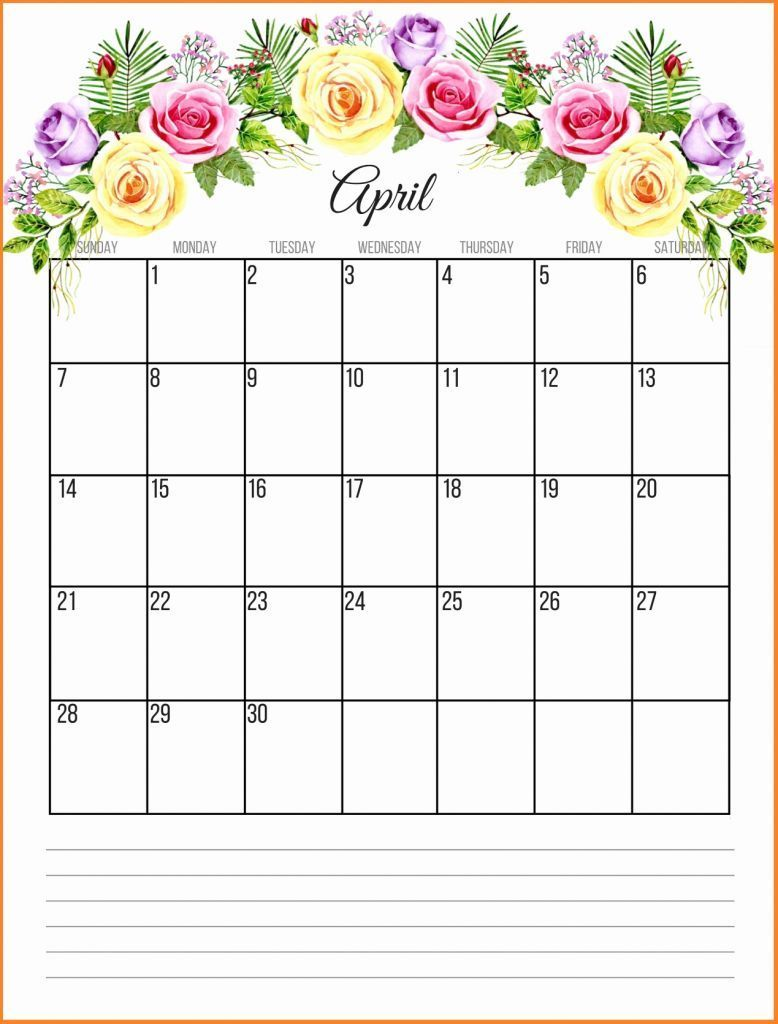 Cute April 2020 Calendar Floral Wallpaper Desk Images Free