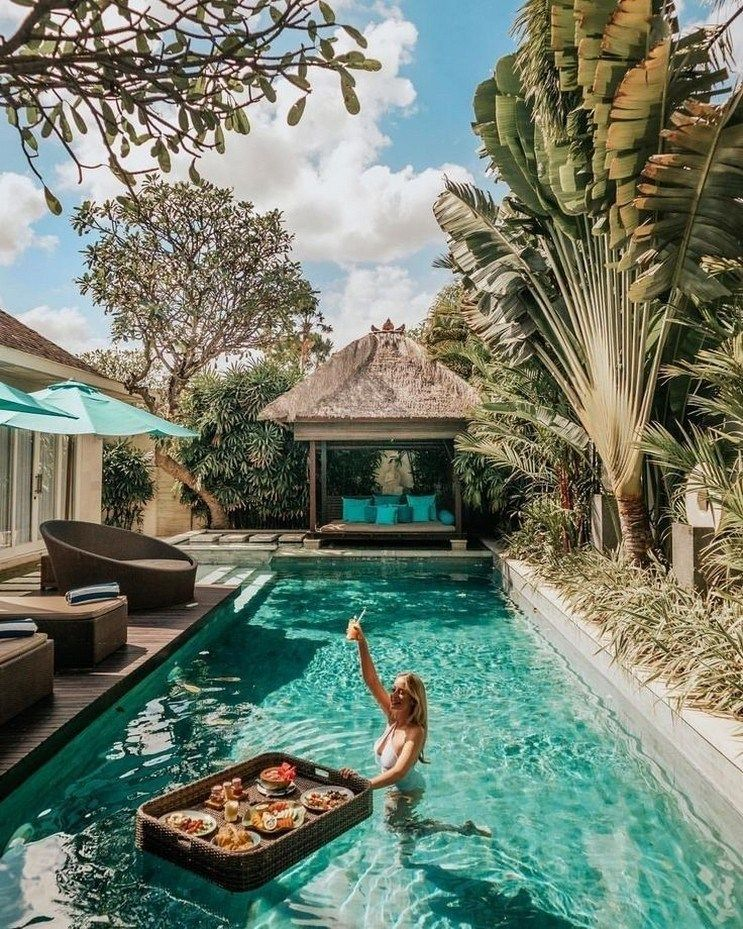 46 pool landscaping ideas tropical small backyards 20