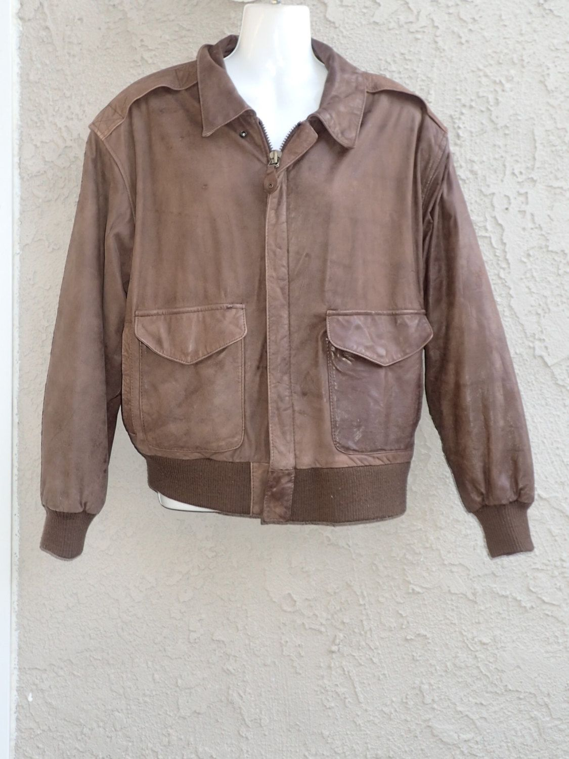 3268290f8 80's Global Identity #G-III Leather Fashions Vintage Brown Bomber ...