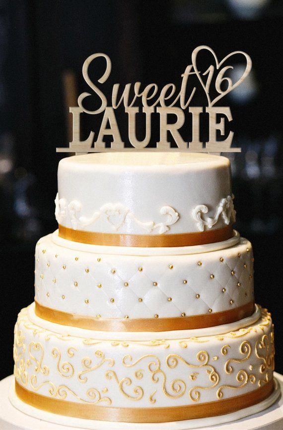 3dc9acd7df31 Sweet 16 Cake Topper