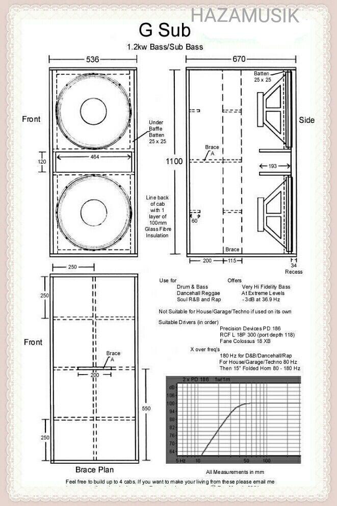 Skema box suboofer RCF 18 t