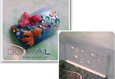 Gold Fish 3d Acrylic Nail Art Mold Diy Decoration 094 Acrylic