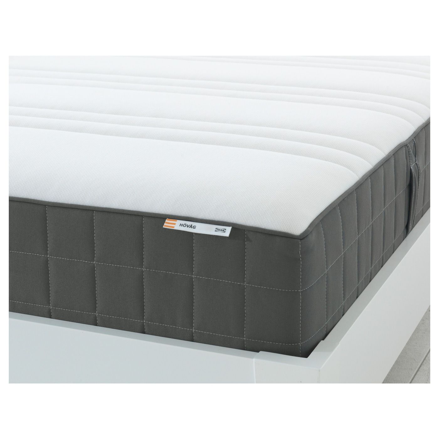 Hovag Firm Dark Grey Pocket Sprung Mattress Standard King Ikea Pocket Spring Mattress Mattress Ikea