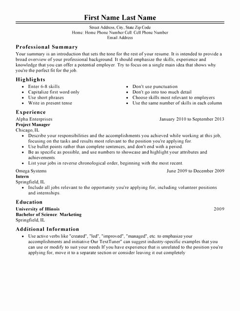 the perfect resume template elegant my perfect resume