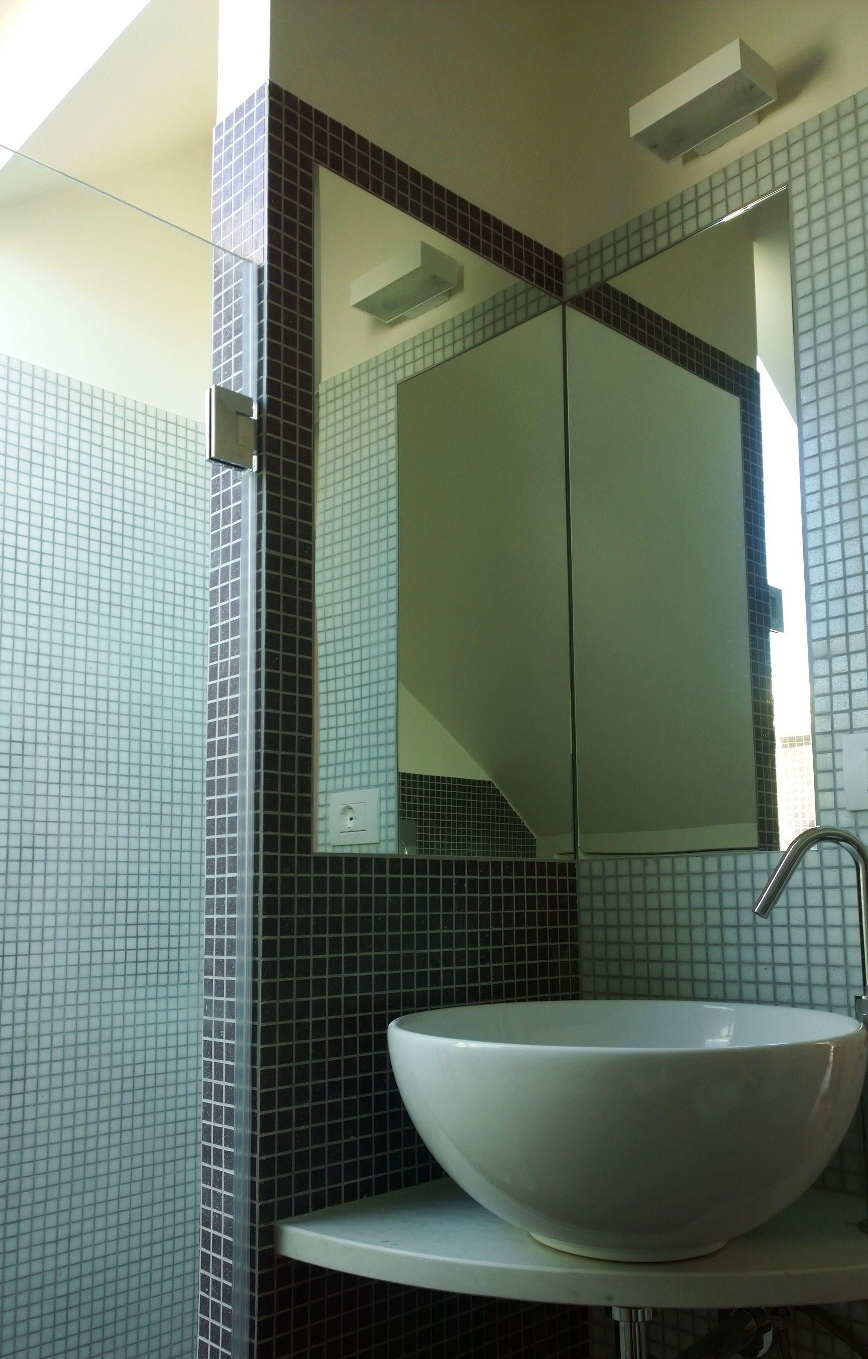 Specchio Per Lavandino Angolare lavabo bagno ad angolo con mobile