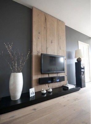 parete zona giorno porta tv alto design in legno | living ...