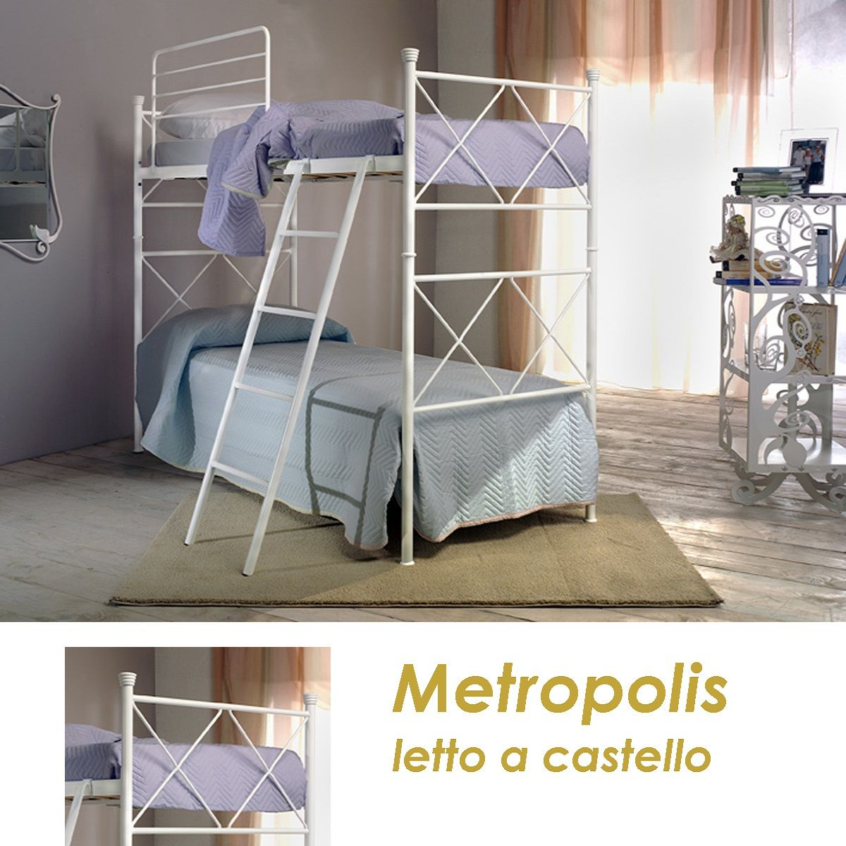 Letto castello Metropolis | Letti a castello, Letto ferro ...