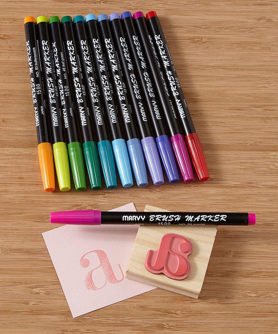 Look At This Zulilyfind Bright Brush Marker Set By Marvy Uchida