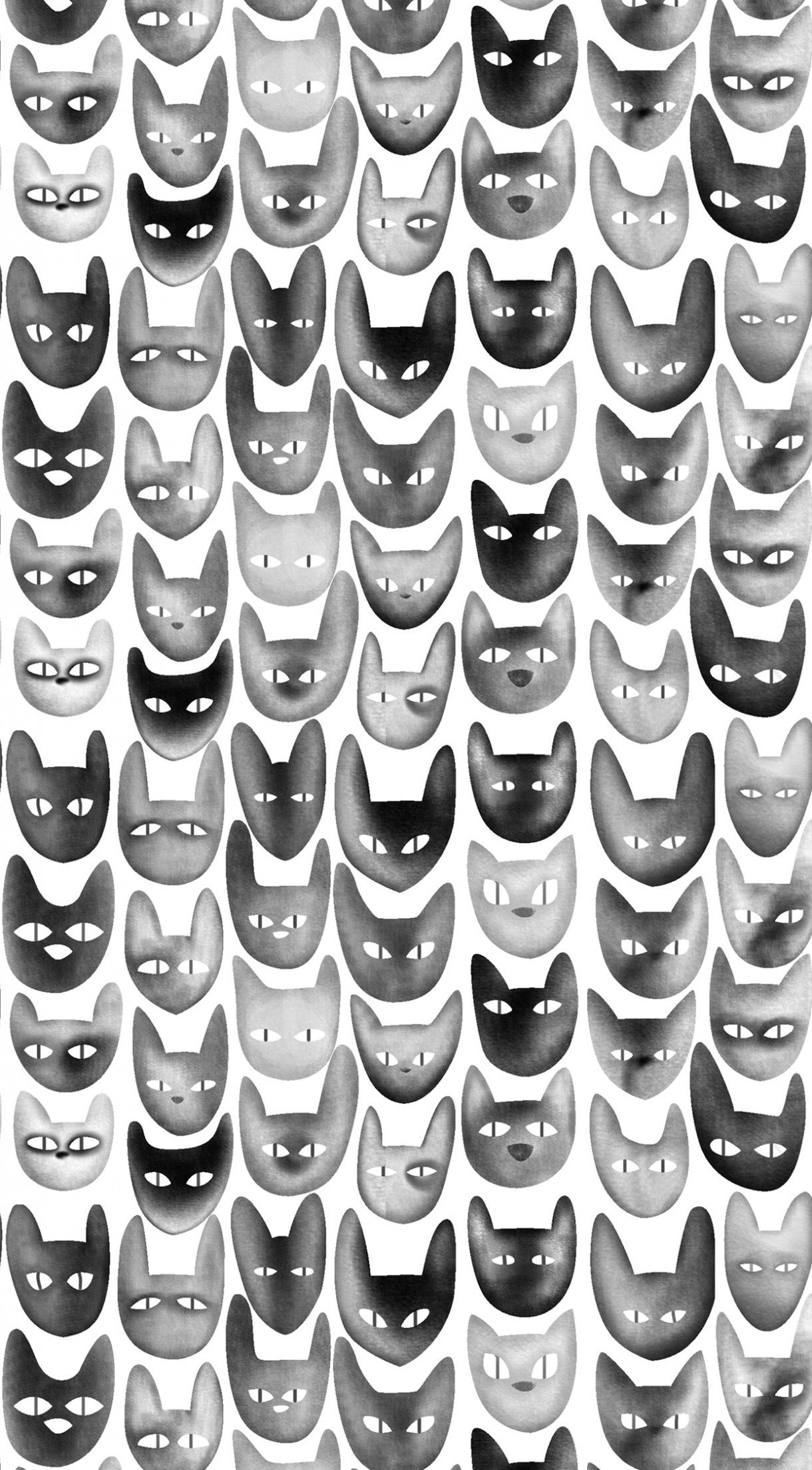 ↑↑TAP AND GET THE FREE APP Animals Cats Fun Black White HD iPhone