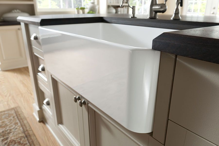 Wood Countertops With Undermount Or Overmount Sinks Stoves