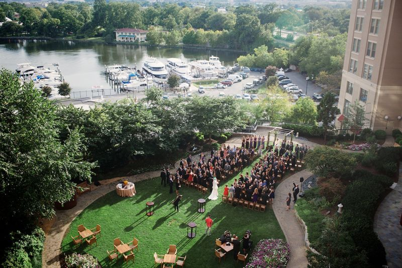 Outdoor Wedding In Washington Dc At The Mandarin Oriental