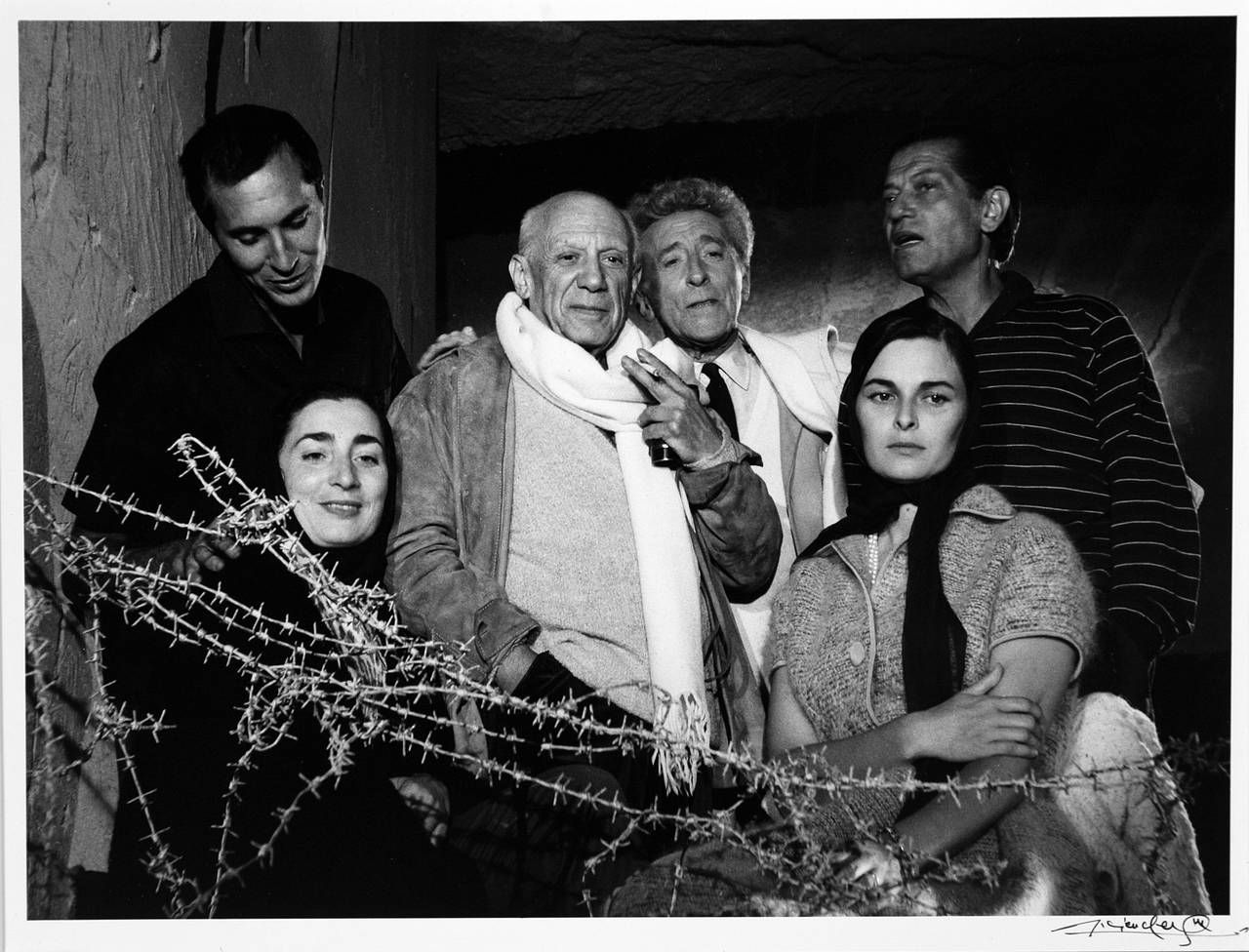 Lucien Clergue Picasso With Friends And Family 1955