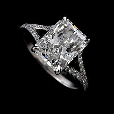 Radiant Cut Ring Setting Split Shank Engagement Ring Micro Pave