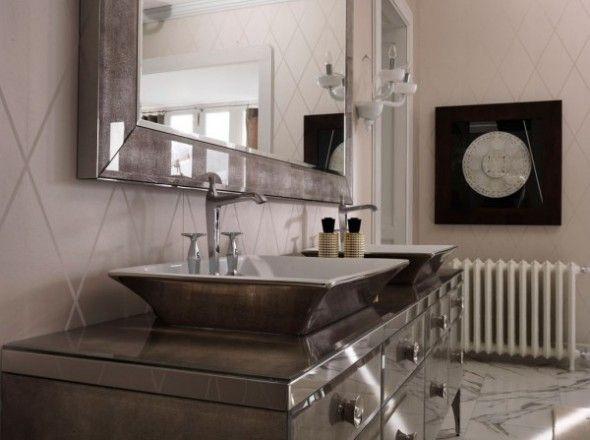 Galaxy Lighting Hilton 2 Light Bathroom Vanity: Milldue, Italy (BANYO DOLABI