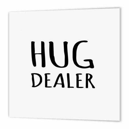 3dRose Hug Dealer - funny hugging humor - black and white text design, Iron On Heat Transfer, 10 by 10-inch, For White Material - Walmart.com
