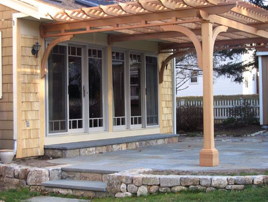 Attached Pergola No Extra Inside Beams Main Beams Are