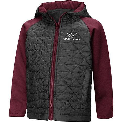 bc22ae53f Virginia Tech Toddler Full-Zip Jacket by Colosseum Athletics | maroon &  charcoal | HOKIE TODDLER @ Virginia Tech Hokie Shop