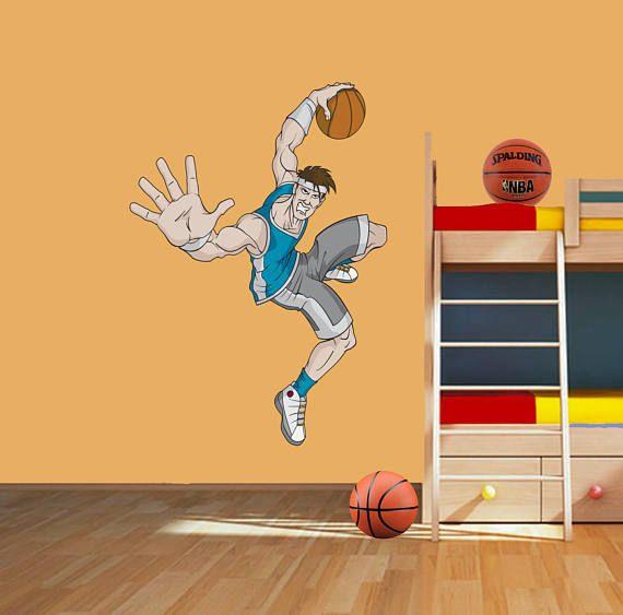Basketball Player Wall Decal Basketball Wall Sticker   Sport Wall ...