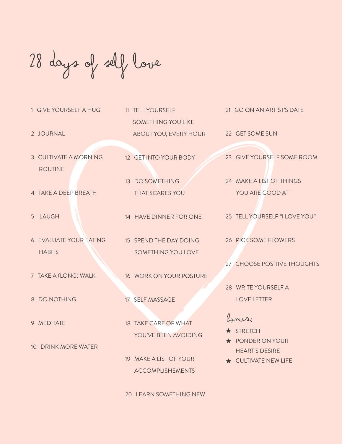 days of self love challenge renaissante com renaissante challenges