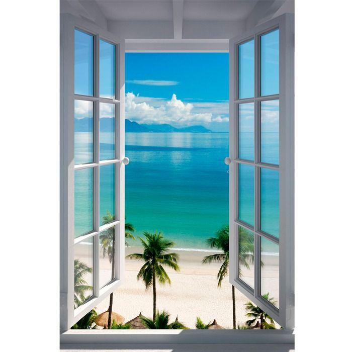 Deco Panel 60 x 90 cm - Beach Window - Blau | Segmüller Onlineshop