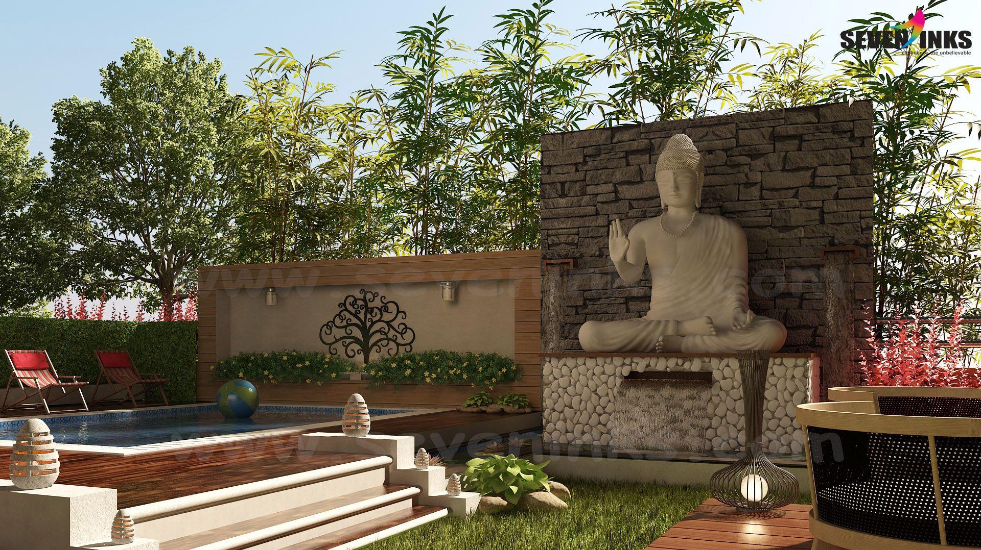 3D Exterior Resort View