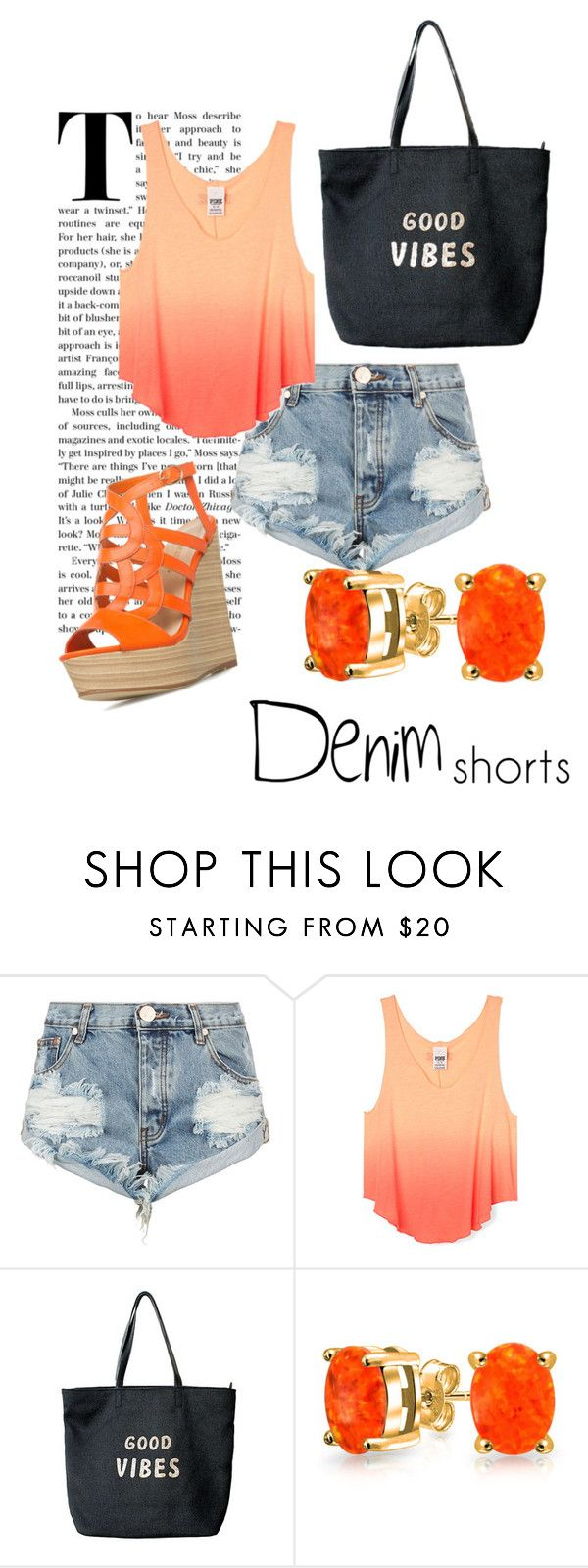 """""""How To: Wear Denim Shorts"""" by constellation-kisses on Polyvore featuring One Teaspoon, Venus, Bling Jewelry, jeanshorts, denimshorts and cutoffs"""