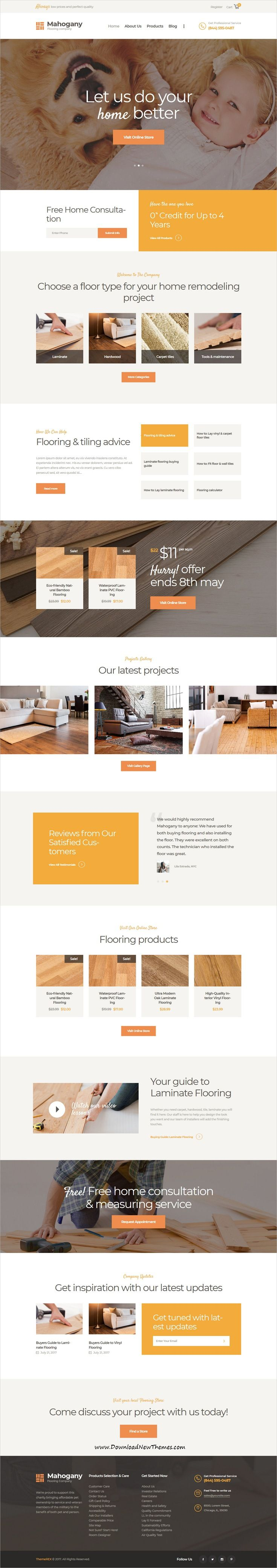 Mahogany is clean and modern design 3in1 responsive WordPress theme