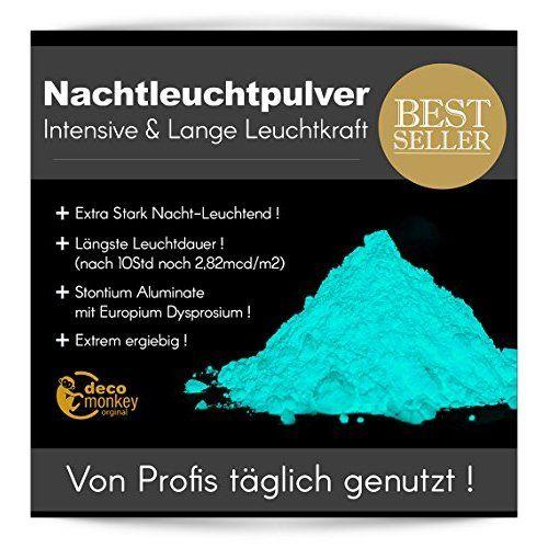 neon nights 100g Blau Nachleucht-Pigmente Neon Selbstleuchtendes Glow Farbpulver Phosphoreszierend