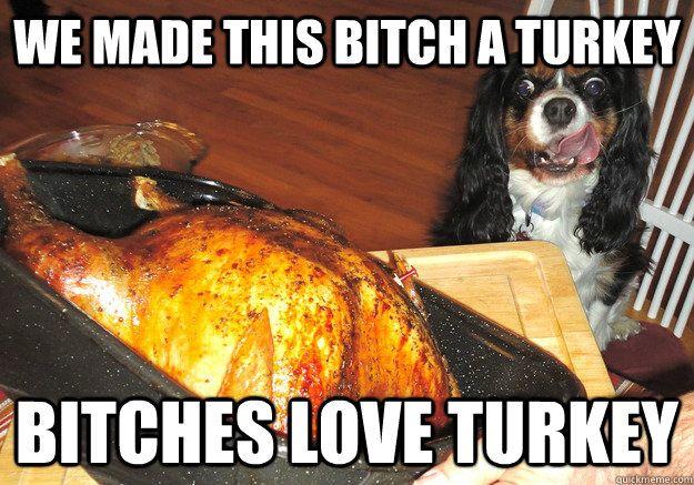 bitches love turkey