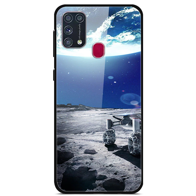 For Samsung M31 Case Tempered Glass Customized Cover Glass Back Case For Samsung Galaxy A21s Coque For Samsung M31 Diy Fund In 2020 Samsung Cases Galaxy Samsung Galaxy