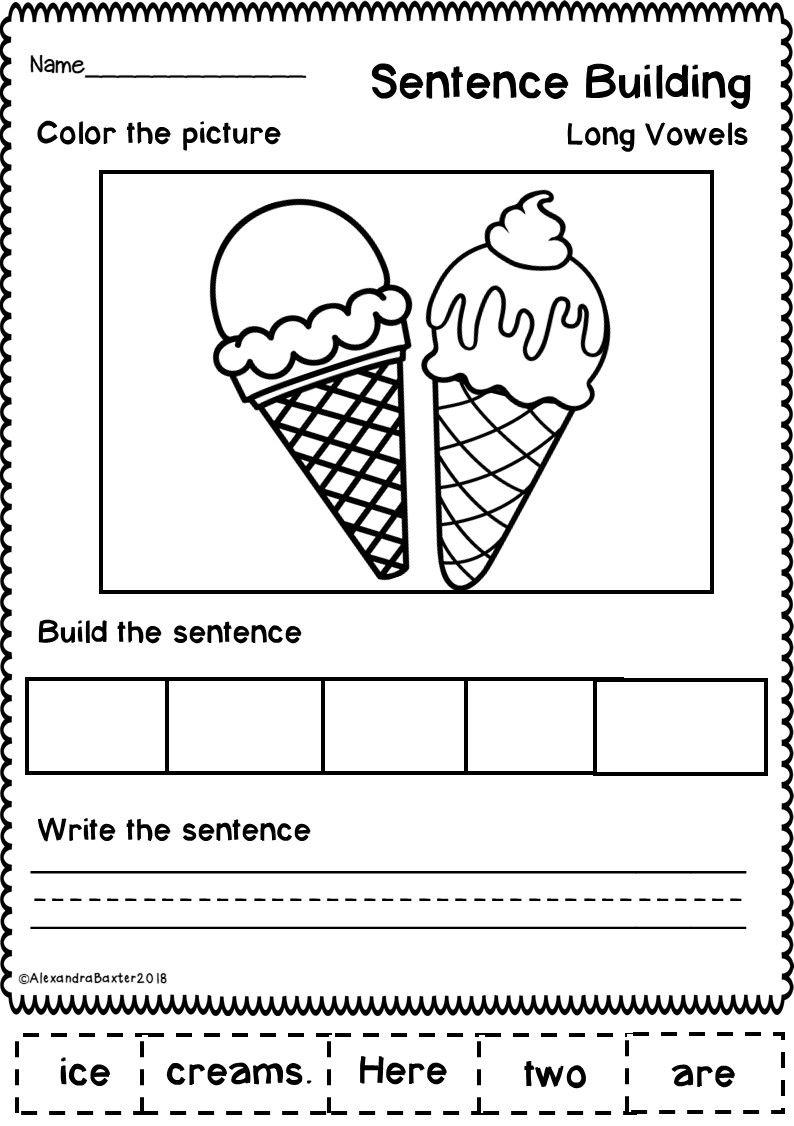 sentence building worksheets set 2 writing sentence building worksheets sentences. Black Bedroom Furniture Sets. Home Design Ideas